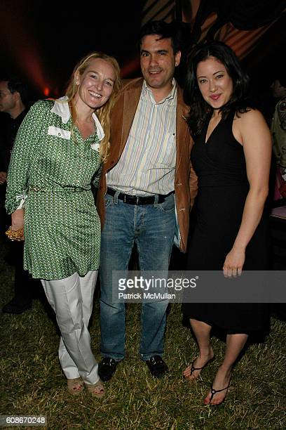 Fiona Moore Jeffrey Slonim and Danielle Vincent attend LOVE HEALS The Alison Gertz Foundation for AIDS Education at Luna Farm Sagaponack on June 23...