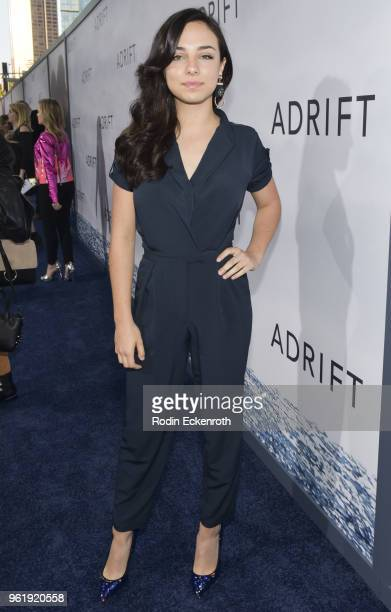 Fiona Palomo arrives at the premiere of STX Films' 'Adrift' at Regal LA Live Stadium 14 on May 23 2018 in Los Angeles California
