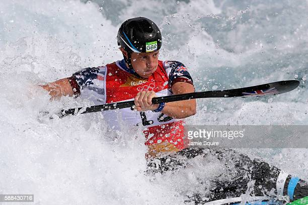 Fiona Pennie of Great Britain during the Women's Kayak Semifinal on Day 6 of the Rio 2016 Olympics at Whitewater Stadium on August 11 2016 in Rio de...