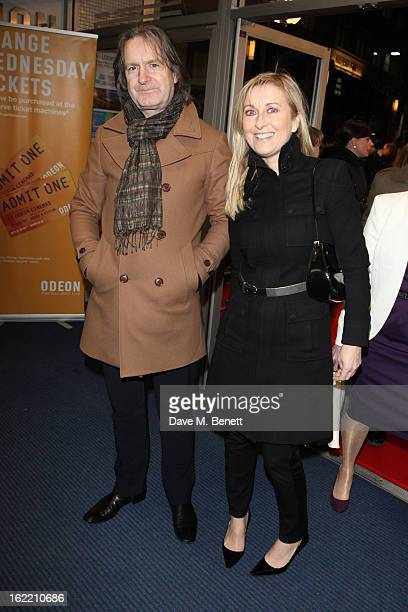 Fiona Phillips and Martin Frizell attend the UK premiere of 'Arbitrage' at Odeon West End on February 20 2013 in London England