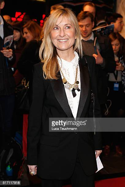 Fiona Phillips arrives for Duncan Macmillan's new play 'People Places Things' at The National Theatre on March 23 2016 in London England