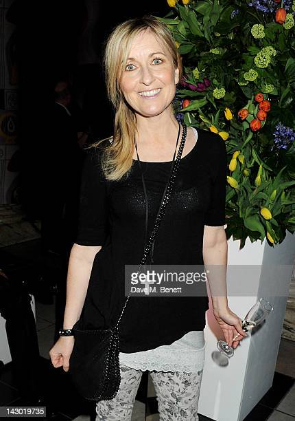 Fiona Phillips attends Jonathan Shalit's 50th birthday party at The VA on April 17 2012 in London England