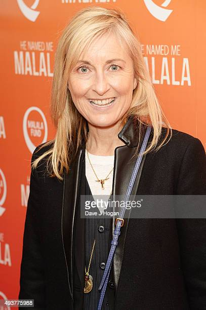 Fiona Phillips attends the 'He Named Me Malala' Special Screening at Ham Yard Hotel on October 22 2015 in London England
