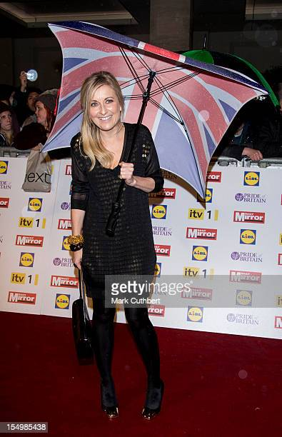 Fiona Phillips attends the Pride Of Britain awards at Grosvenor House on October 29 2012 in London England