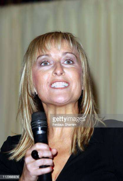 Fiona Phillips during Bingo Caller of the Year Competition in London Great Britain