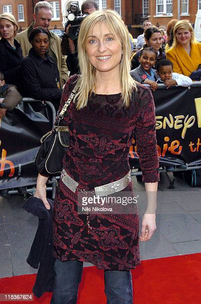 Fiona Phillips during 'Winnie the Pooh' Party at the Hammersmith Apollo March 23 2005 at Carling Apollo Hammersmith in London United Kingdom