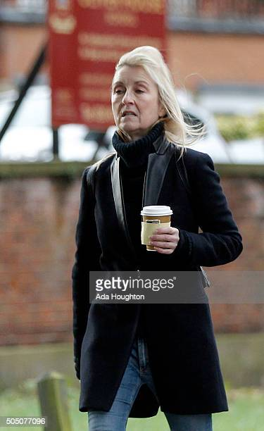 Fiona Phillips sighting on January 8 2016 in London United Kingdom