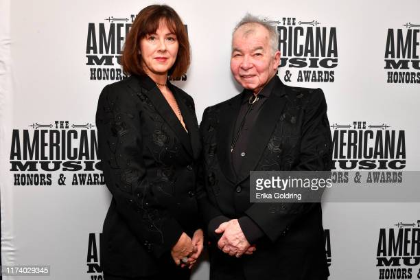Fiona Prine and John Prine seen backstage during the 2019 Americana Honors Awards at Ryman Auditorium on September 11 2019 in Nashville Tennessee