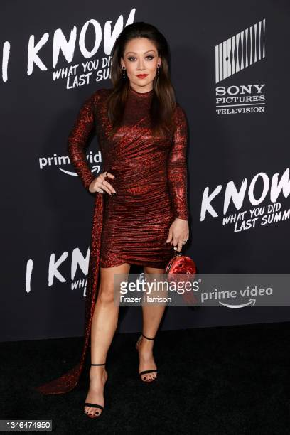 """Fiona Rene attends Los Angeles Premiere Of """"I Know What You Did Last Summer"""" at The Hollywood Roosevelt on October 13, 2021 in Los Angeles,..."""