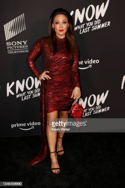 """Fiona Rene attends the Los Angeles premiere of """"I Know What You Did Last Summer"""" at The Hollywood Roosevelt on October 13, 2021 in Los Angeles,..."""