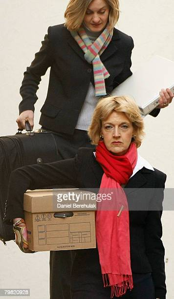 Fiona Shackleton arrives to the High Court without her client Paul McCartney on February 18 2008 in London England The Sir Paul McCartney and Heather...