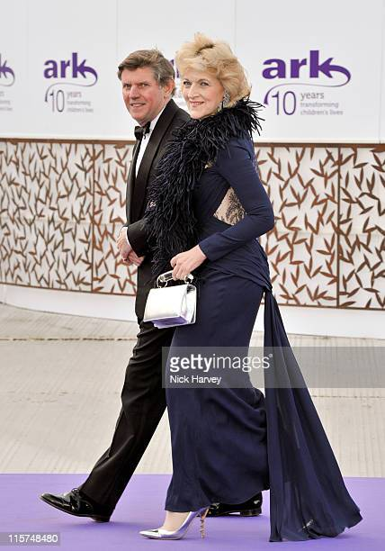 Fiona Shackleton attend the 10th Annual ARK gala dinner at Kensington Palace on June 9 2011 in London England