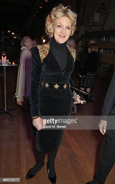 Fiona Shackleton attends Fast Forward The National Theatre's fundraising gala at The National Theatre on March 4 2015 in London England