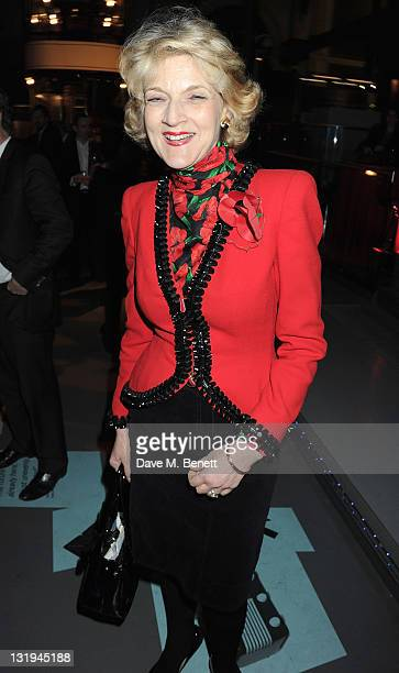 Fiona Shackleton attends 'The London Evening Standard's 1000 Most Influential Londoners' at the London Transport Museum on November 8 2011 in London...