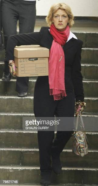 Fiona Shackleton lawyer for former Beatle Paul McCartney arrives at the Royal Courts of Justice in central London on February 18 2008 McCartney and...