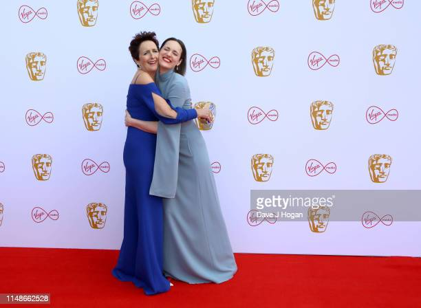 Fiona Shaw and Phoebe Waller Bridge attend the Virgin Media British Academy Television Awards 2019 at The Royal Festival Hall on May 12, 2019 in...