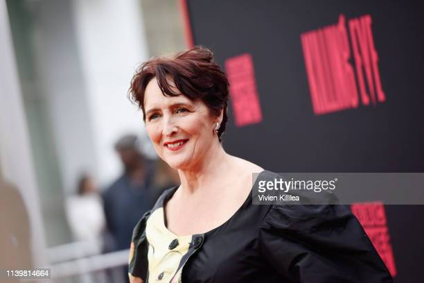Fiona Shaw attends the Killing Eve premiere event on April 01 2019 in North Hollywood California