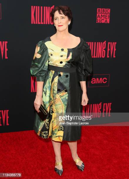 Fiona Shaw attends the Premiere of BBC America and AMC's Killing Eve Season 2 on April 01 2019 in Los Angeles California