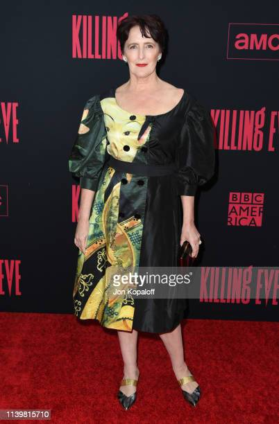 Fiona Shaw attends the premiere of BBC America And AMC's Killing Eve Season 2 at ArcLight Hollywood on April 01 2019 in Hollywood California