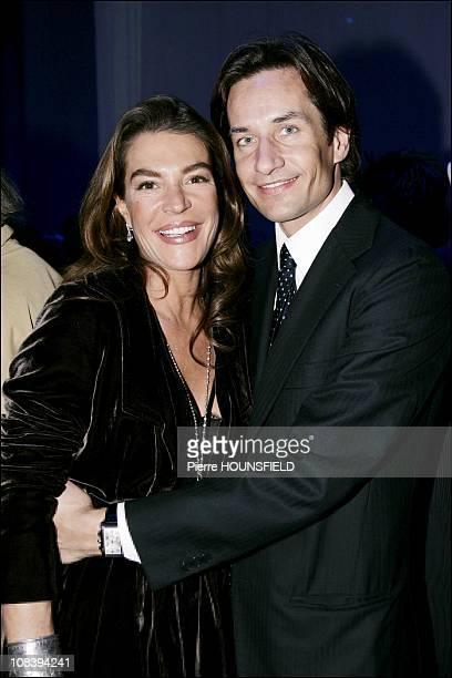 Fiona Swarovski and her friend Austrian finance minister Karl-Heinz Grasser in Paris, France on January 22, 2007.