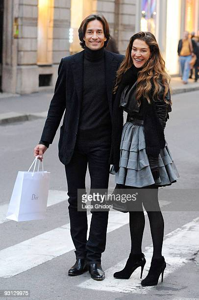 Fiona Swarovski And Karl Heinz Grasser Are Seen Shopping On November   In Milan Italy