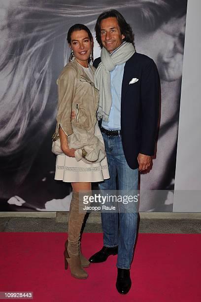 """Fiona Swarovski and Karl Heinz Grasser attend """"La Musa Inquieta. Vita, Arte e Miracoli di Marta Marzotto"""" Openingon March 10, 2011 in Milan, Italy."""