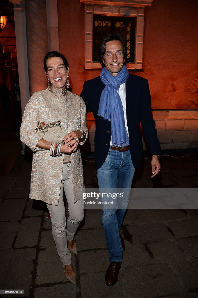Fiona Swarovski and Karl Heinz Grasser attend the Dinner At 'Fondazione Cini, Isola Di San Giorgio' during the 2013 Venice Biennale on May 29, 2013 in Venice, Italy.