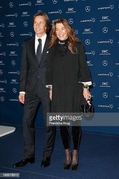 Fiona Swarovski and Karl-Heinz Grasser attend the Laureus Media Award 2012 on November 05, 2012 in Kitzbuehel, Austria.