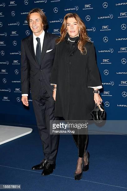 Fiona Swarovski and KarlHeinz Grasser attend the Laureus Media Award 2012 on November 05 2012 in Kitzbuehel Austria