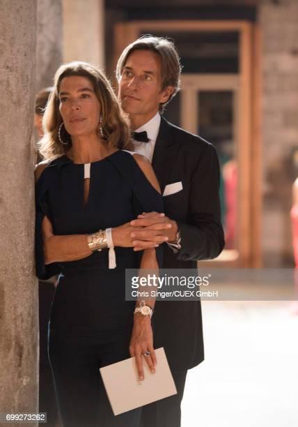 Fiona Swarovski and KarlHeinz Grasser attend the wedding of Victoria Swarovski and Werner Muerz on June 15 2017 in Trieste Italy