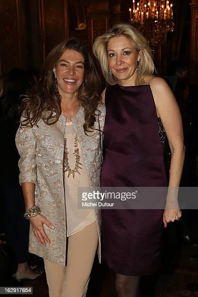 Fiona Swarovski and Nadja Swarovski Swarovski 'Paris Haute Couture' Exhibition as part of Paris Fashion Week on February 28 2013 in Paris France