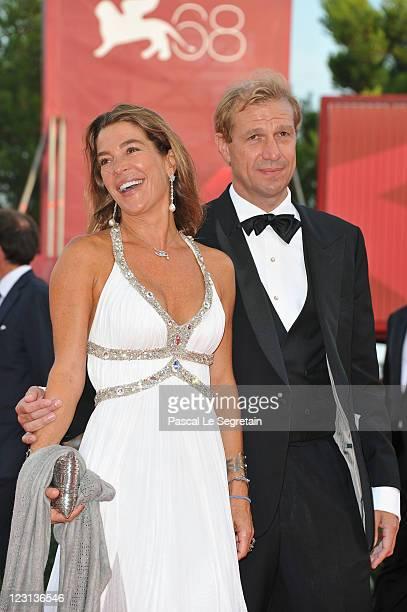 Fiona Swarovski and Toto Bergamo Rossi attend The Ides Of March premiere during the 68th Venice Film Festival at the Palazzo del Cinema on August 31...