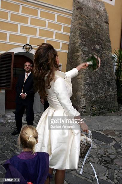 Fiona Swarovski during Karl Hainz Grasser and Fiona Swarovski Wedding at Weissenkirchen in Weissenkirchen Wien Austria