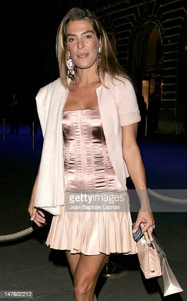 """Fiona Swarovski during Opening of Chaumet Exhibition: """"Napoleon in Love"""" - Arrivals at Place Vendome in Paris, France."""