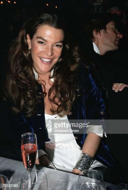 Fiona Swarovski heire of Swarovski Cristals company attends the Kitzrace Party January 27 in Kitzbuehel Austria