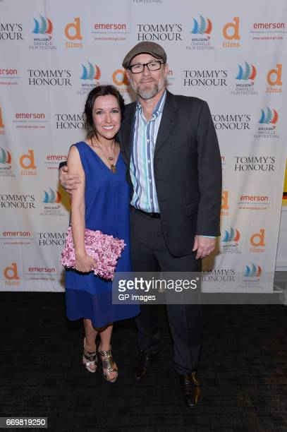 Fiona Ufton and Jason Connery attend the screening Of Tommy's Honour at Cineplex Oakville on April 17 2017 in Oakville Canada