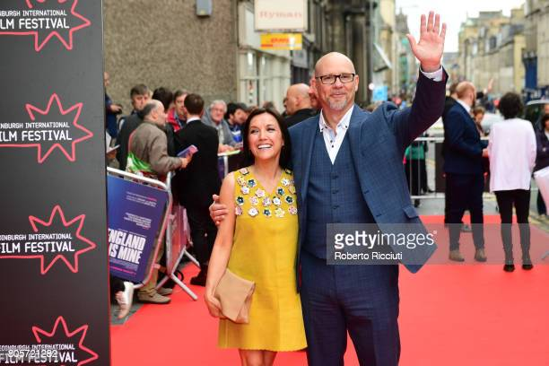 Fiona Ufton and Jason Connery attend the world premiere for 'England is mine' and closing event of the 71st Edinburgh International Film Festival at...