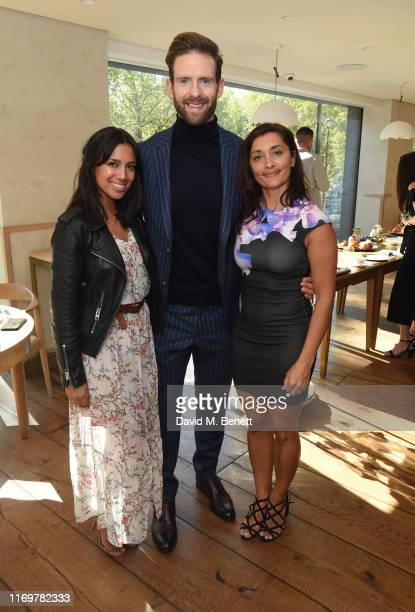 Fiona Wade Craig McGinlay and Rebecca Sarker attend Hide x Versini Macmillan Coffee Morning at Hide Restaurant on September 20 2019 in London England