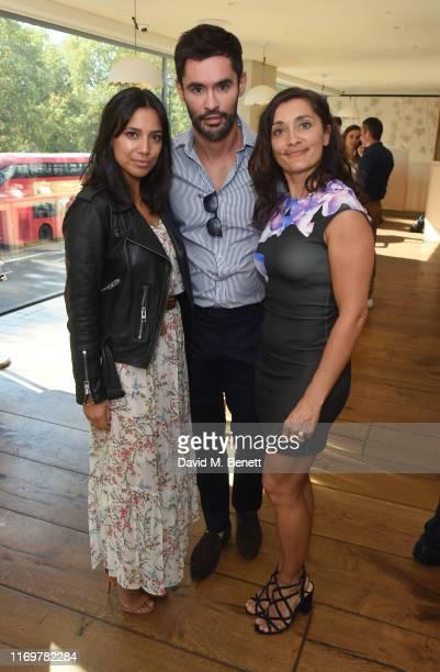 Fiona Wade Jean Bernard FernandezVersini and Rebecca Sarker attend Hide x Versini Macmillan Coffee Morning at Hide Restaurant on September 20 2019 in...