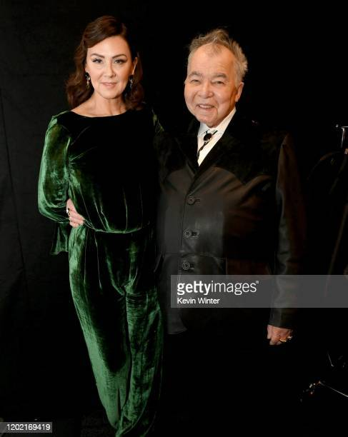 Fiona Whelan and John Prine attend the 62nd Annual GRAMMY Awards at Staples Center on January 26, 2020 in Los Angeles, California.