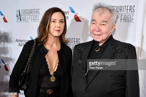 Fiona Whelan and John Prine attend the Songwriters Hall Of Fame 50th Annual Induction And Awards Dinner at The New York Marriott Marquis on June 13,...
