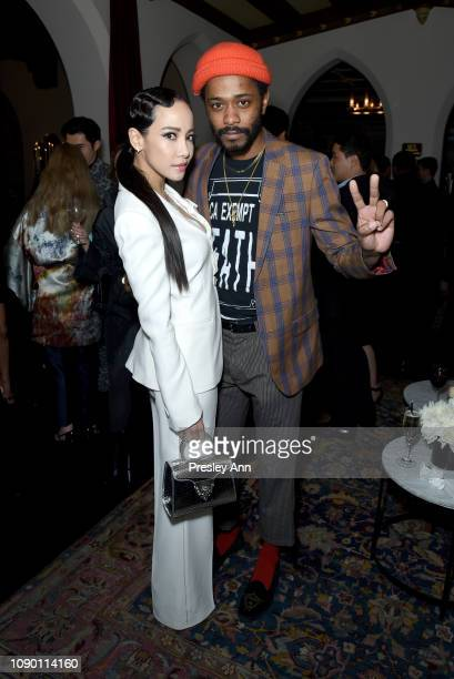 Fiona Xie and Lakeith Stanfield attend Entertainment Weekly Celebrates Screen Actors Guild Award Nominees sponsored by L'Oreal Paris Cadillac And...