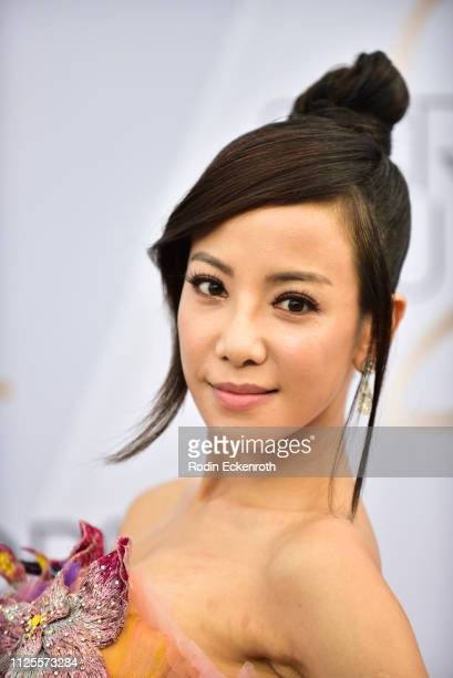 Fiona Xie arrives at the 25th Annual Screen ActorsGuild Awards at The Shrine Auditorium on January 27 2019 in Los Angeles California