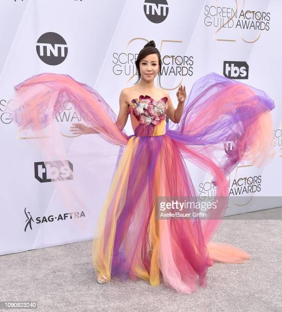 Fiona Xie attends the 25th Annual Screen Actors Guild Awards at The Shrine Auditorium on January 27 2019 in Los Angeles California