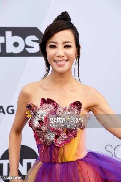Fiona Xie attends the 25th Annual Screen ActorsGuild Awards at The Shrine Auditorium on January 27 2019 in Los Angeles California