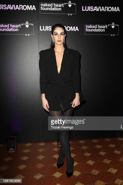 Fiona Zanetti attends LuisaViaRoma and Naked Heart Foundation Dinner on January 09 2019 in Florence Italy