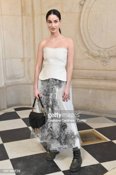 Fiona Zanetti attends the Christian Dior Haute Couture Spring Summer 2019 show as part of Paris Fashion Week on January 21, 2019 in Paris, France.