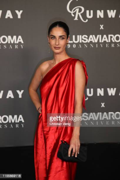 Fiona Zanetti attends the CR Runway x LuisaViaRoma Event during Pitti Immagine Uomo 96 on June 13 2019 in Florence Italy