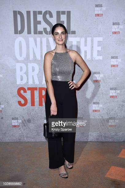 Fiona Zanetti attends the Diesel Fragrance 'Only the Brave Street' Launch Party at Palais De Tokyo on September 6 2018 in Paris France