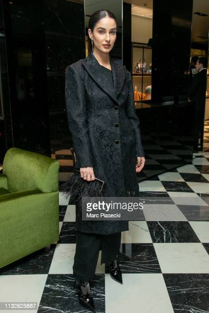 Fiona Zanetti attends the 'Double Exposure' Prada hosts book signing event with Willy Vanderperre at Prada Faubourg St Honoré on February 27 2019 in...